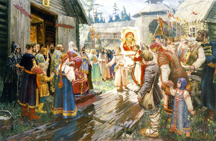 Картинки по запросу казанская икона божией матери явление